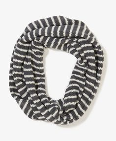 Striped Knit Infinity Scarf | FOREVER21 - 1021839978