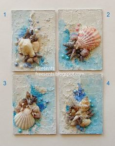 Best 12 Beach Decor of Seashell Art, Beach Bathroom Decor Wall Hanging, Coastal Wall Art of Shells on Glass, Coastal Decor of Seashell Glass Art by on Etsy by lucia – SkillOfKing. Seashell Art, Seashell Crafts, Seashell Decorations, Wedding Decorations, Craft Decorations, Sea Decoration, Seashell Frame, Seashell Painting, Stone Painting