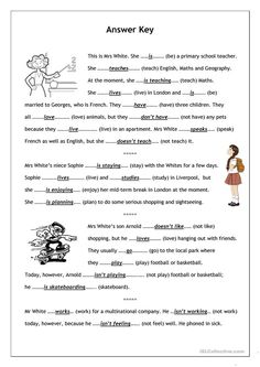 No-frills worksheet for all ages: Present Simple vs. Present Continuous - English ESL Worksheets for distance learning and physical classrooms English Grammar Exercises, English Grammar Worksheets, Grammar Lessons, English Vocabulary, Kids English, English Reading, English Lessons, Learn English, Have Fun Teaching