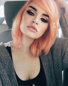 Beauty Lover: Look do dia 9 #lidiceba #beautyloverbylidice #sobrancelhaspretas #cabelo #orangehair
