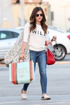 Lucy Hale Shopping at Paper Source June 11 2014