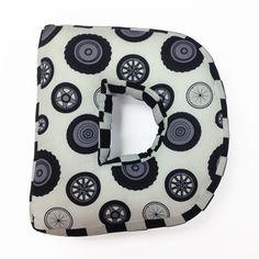 "Teyo's Tires Letter ""D"" Cotton Throw Pillow"