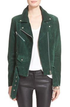 Veda 'Jayne' Suede Moto Jacket available at #Nordstrom