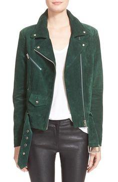 Veda 'Jayne' Suede Moto Jacket