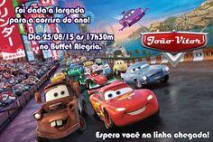 Convite digital personalizado Carros da Disney 005