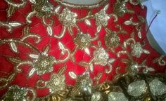 A close at the metallic embroider done at philicia  #bridesmaiddress #handembroidery #metallicembroidery #indianmotifs #motifs #floralmotifs #indian #philicia #traditional #ethnic comment or message us more more information (no reference picture or re-pin,100%original picture and our own designs)