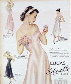 Lust for Life ♪ vivatvintage: 1949 lingerie 1940s Fashion, New Fashion, Vintage Fashion, Vintage Couture, Vintage Soul, Vintage Beauty, Vintage Advertisements, Vintage Ads, 1950s Aesthetic