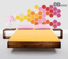 Décalque de mur de chambre arc-en-ciel tête de lit en nid d'abeille CGhome par CGhome sur Etsy https://www.etsy.com/fr/listing/175609652/decalque-de-mur-de-chambre-arc-en-ciel