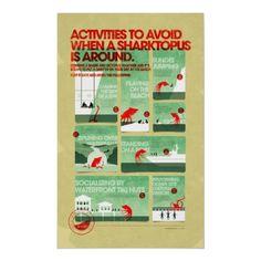 Affiche de sécurité de Sharktopus