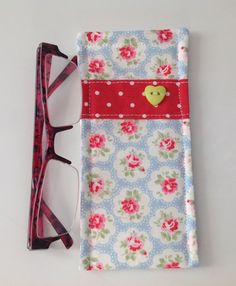 Cath Kidston Blue Provence Fabric Glasses Case  by sewmoira
