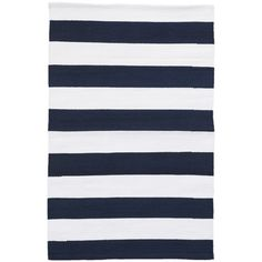 Dash and Albert Rugs Catamaran Striped Navy Blue Indoor / Outdoor Area Rug Rug Size: Rectangle x Shop Awning, Indoor Water Fountains, Dhurrie Rugs, Dash And Albert, Navy Rug, Rug Sale, Indoor Outdoor Area Rugs, Outdoor Decor, Catamaran