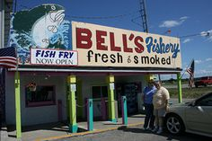 Bell's Fishery - Mackinaw City, MI...fish market...recommend fish pate...little window outside where you can order fish baskets for lunch/dinner...excellent!