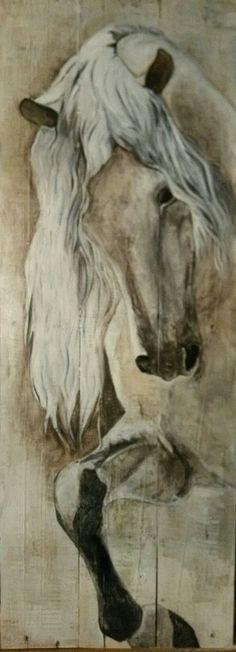 Horse Art  Painted on pallet wood.