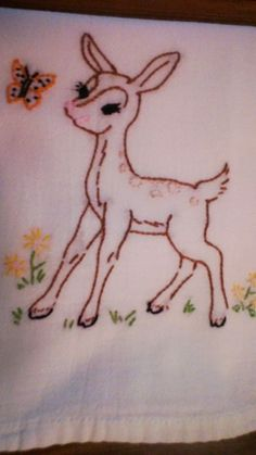 Baby Animals pattern Fawn
