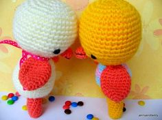 pdf two little chick amigurumi crochet pattern. #pattern #crochet
