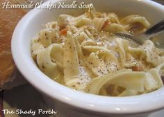 Creamy Chicken Noodle Soup by The Shady Porch