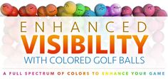 Colored Golf Balls in Neon Yellow, Orange, Pink and more - Golfballs.com