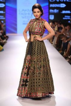 Gauhar Khan looks beautiful in a Rinku Sobti creation.