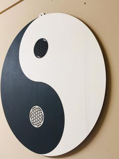 Yin Yang & Flower of Life-mural around ø 500 mm, wood oiled, living quarters, office, meditation room Yin Yang, Chinese Philosophy, Meditation, Wood Oil, Flower Of Life, Material, Etsy, Cold, Wall Murals