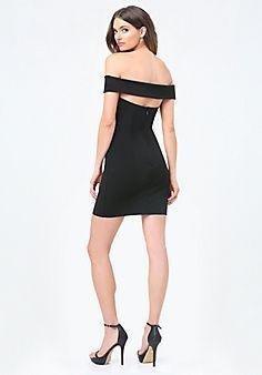 Ponte+Back+Cutout+Dress