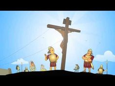 The cartoon version of the Easter story, straight from the Bible - Book of Mark chapters 15 and 16 (CEV). Bible School Crafts, Bible Crafts For Kids, Holy Week Activities, Easter Activities, Good Friday Images, Toddler Bible, Sunday School Projects, Resurrection Day, Bible Stories For Kids