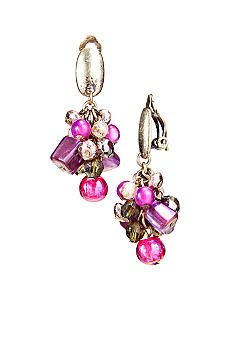Ruby Rd Twilight Collection Clip Earrings