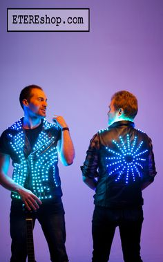Festival wear LED light up festival musician vest clothing / Glow stage rock wear suit / LED light fashion jacket suit - by ETERESHOP Glow Party Outfit, Dark Costumes, Light Up Costumes, Glow Stick Party, Glow Sticks, Glow Costume, Punk Costume, Light Up Clothes, Rave Mask
