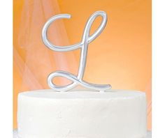 Monogram L Wedding Cake Topper - Wedding Cake Toppers - Weddings - Categories - Party City Canada