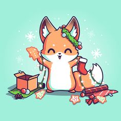 Baby Animal Drawings, Cute Animal Drawings Kawaii, Cute Cartoon Drawings, Cute Kawaii Animals, Cute Cartoon Animals, Cute Baby Animals, Cute Fox Drawing, Niedlicher Panda, Cute Animal Quotes