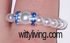 beaded ring pearl projects