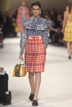 Miuccia Prada delivered a Miu Miu collection for appreciators of real fashion.