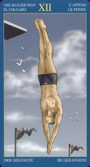 XII Hanged Man, Gay Tarot