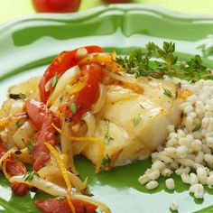 Assertive Pacific cod has enough flavor to stand up to the citrus-tinged tomatoes and onions. Serve with barley or brown rice to soak up all the delicious juices.  Recipe: Roasted Cod with Orange, Tomato, and Onions