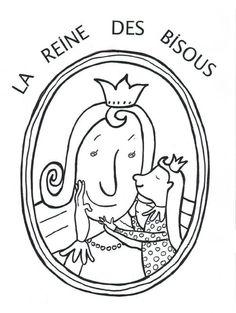 la reine des bisous coloriage Album, Drawings, Puzzle, Peda, Castles, Kings Crown, Period, Puzzles, Drawing