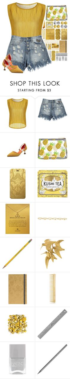"""""""Happy Days!"""" by ritaof ❤ liked on Polyvore featuring Skinnydip, Chanel, Christian Lacroix, Kusmi Tea, Dogeared, Maria Francesca Pepe, Dixon Ticonderoga, Hermès, AERIN and Nails Inc."""
