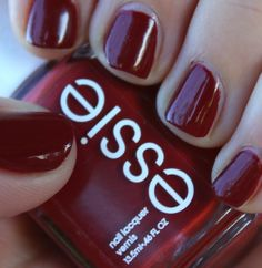 Essie Spinning Again - A perfect red for fall