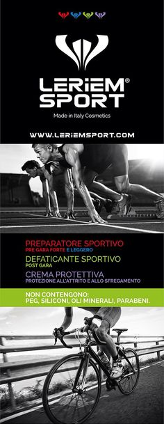 Leriem Sport - Crema per ciclisti, runners, triatleti - Expressly designed for serious athletes! Performance without compromise.  Leriem Sport Formulati espressamente per atleti professionisti! Performance senza compromessi.  For more information, please contact us at: info@leriem.com   Per maggiori informazioni contattateci all'indirizzo: info@leriem.com   Coming soon on: www.leriemsport.com