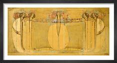 The May Queen, 1900 Art Print by Margaret Macdonald Mackintosh | King & McGaw May, Vintage World Maps, King, Queen, Art Prints, Frame, Artist, House, Art Impressions