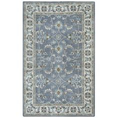 Arden Loft Crown Way Oriental Blue Grey Hand Tufted Wool Area Rug 9