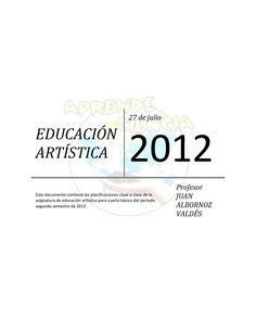 Planificación Clase A Clase de Educación Artística Cuarto Básico  Planificación Clase A Clase de Educación Artística Cuarto Básico Profesor Juan Albornoz Valdés