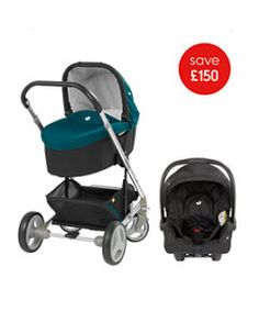 View details of Joie Chrome Pushchair Travel System - Jade