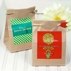 Personalized Seed Packet Wedding Favors by Beau-coup