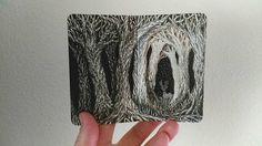 Isobelle Ouzman - Midnight Deer Miniature Altered Book Book Art