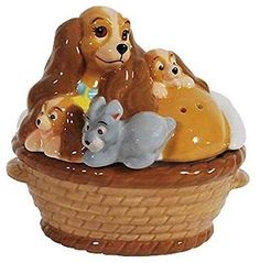 Lady and the Tramp Puppy Salt and Pepper Shakers