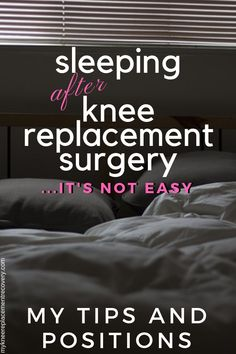 One of the questions I get most is how to sleep after knee replacement surgery I had the same questions as I was recovering from knee surgery I was in pain uncomfortable. Knee Replacement Recovery, Partial Knee Replacement, Knee Replacement Surgery, Total Knee Replacement Exercises, Acl Surgery Recovery, Acl Recovery, Meniscus Surgery, How To Strengthen Knees, Knee Strengthening Exercises