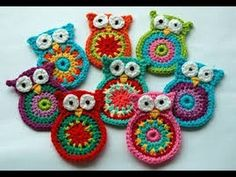 Welcome to my pattern for the mini version of crochet owl .This free pattern is really quick and . visit my site- . please watch my new video of crochet owl pattern- . Crochet Owl Applique, Owl Crochet Patterns, Crochet Coaster Pattern, Crochet Birds, Crochet Geek, Owl Patterns, Cute Crochet, Crochet Motif, Crochet Crafts