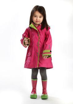 Brightens up a dull day! KoziKidz Girls Raincoat.