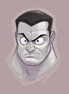 Les X-Men version cartoon de Randy Bishop - Colossus