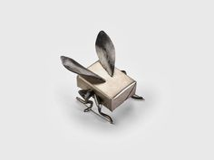 """Robean Visschers - butter?fly! Butter-fly. Brooch. Silver, steel (made for the exhibition """"Papallona / Mariposa / Butterfly"""" organized by philip Sajet - at AmarantoJoies, Barcelona 2013 )"""
