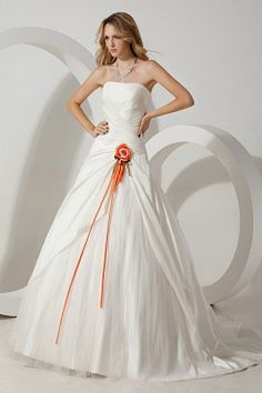 Ball Gown Strapless Ivory Bridal Gowns sfp0268 - http://www.shopforparty.com/ball-gown-strapless-ivory-bridal-gowns-sfp0268.html - COLOR: Ivory; SILHOUETTE: Ball Gown; NECKLINE: Strapless; EMBELLISHMENTS: Flower , Ruched; FABRIC: Taffeta - 182USD